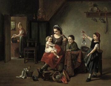 4 Varenbergh, J. _Belgian, 19th Century_The puppet show